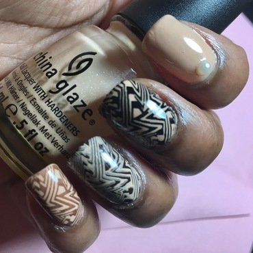 Are you drawing Zig Zags in my Chocolate Mousse ? nail art by Chloe Jay
