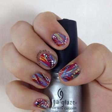 Full color nail art by Vladimiralfredo