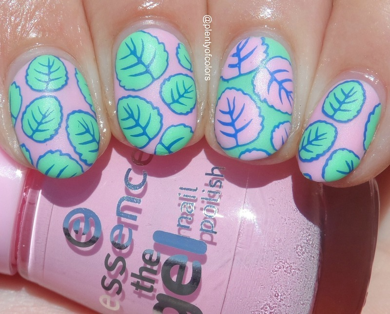 Pastel Leaves nail art by Plenty of Colors