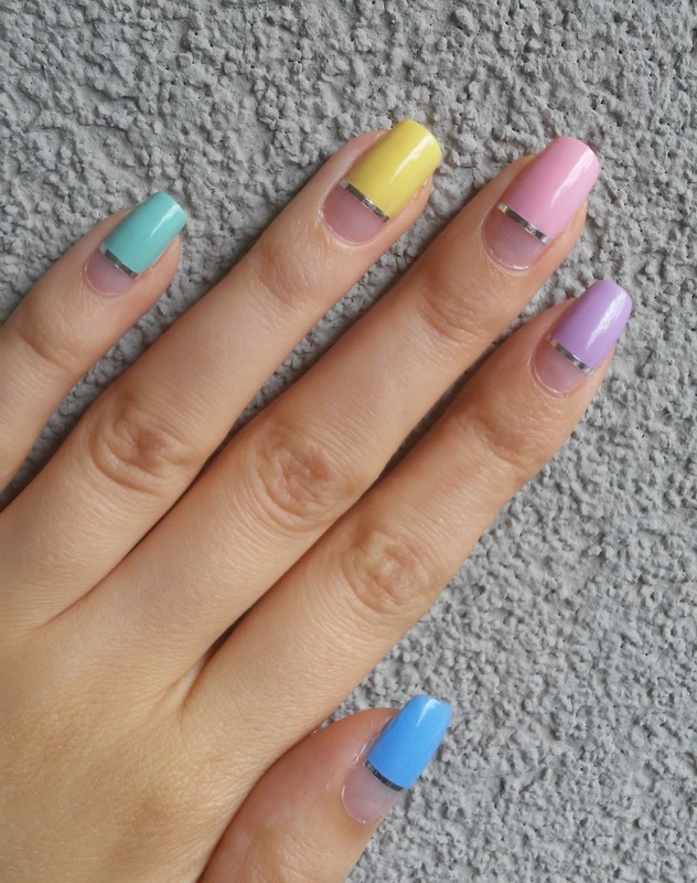colours of summer nail art by irenek