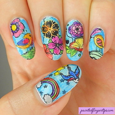 Nail art colouring books thumb370f