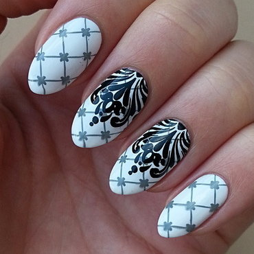 Born Pretty Store Stamping Polish #444 I nail art by Mgielka M