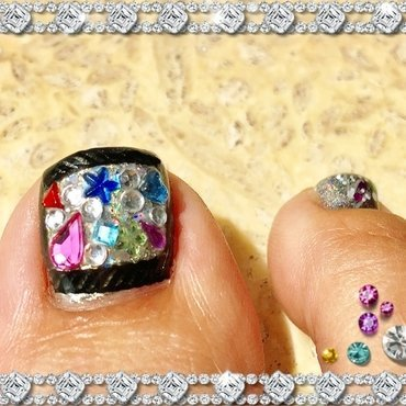 blinged out purse nail art by Idreaminpolish