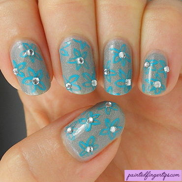 Paper flowers nail art thumb370f