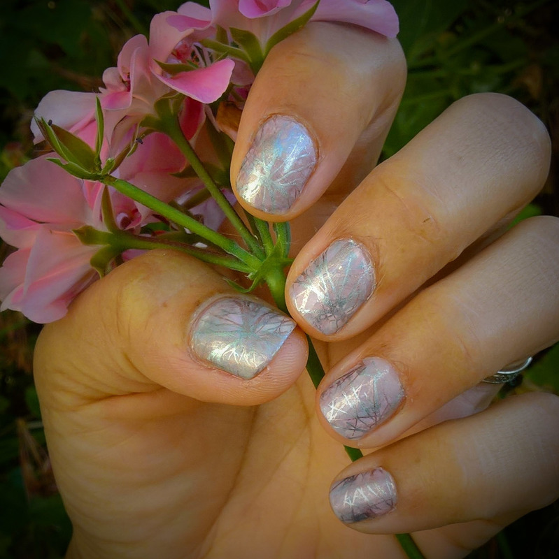 Silver & Pink #whencolourscollide nail art by Avesur Europa