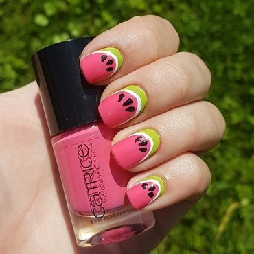 Watermelon nails 🍉🍉🍉 nail art by Aurora Klančar