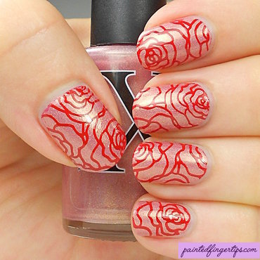 Red rose stamping thumb370f