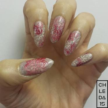 Baroque Blush nail art by chleda15