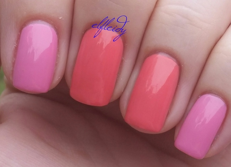 China Glaze I Just Cant-aloupe and China Glaze Belle of a Baller Swatch by Jenette Maitland-Tomblin