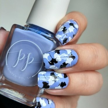Petals on Periwinkle nail art by Salla Hietanen