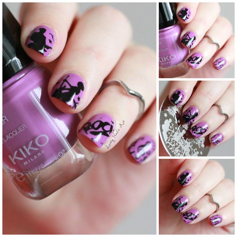 Nail art stamping music  nail art by Lovely Nail's  Art