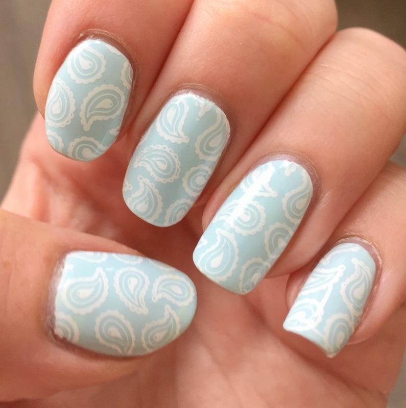 Paisley nail art by Meggy