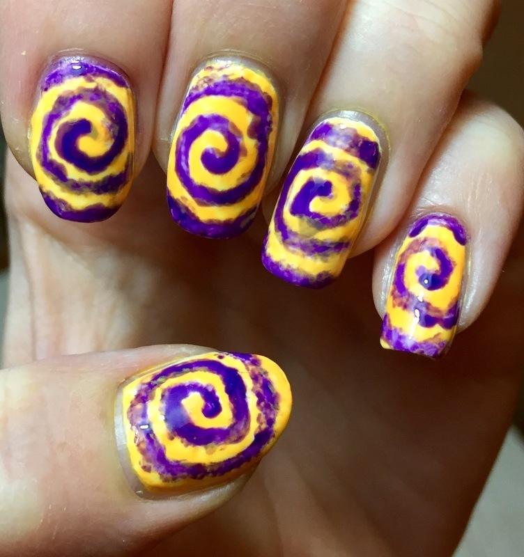 Tie Dye nail art by Meggy