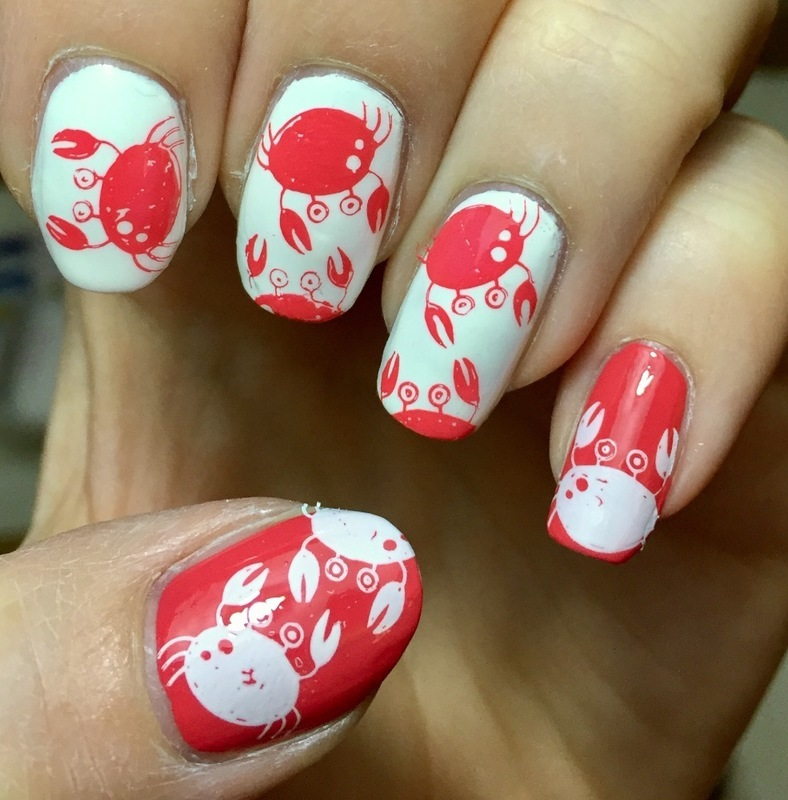 Crabs nail art by Meggy