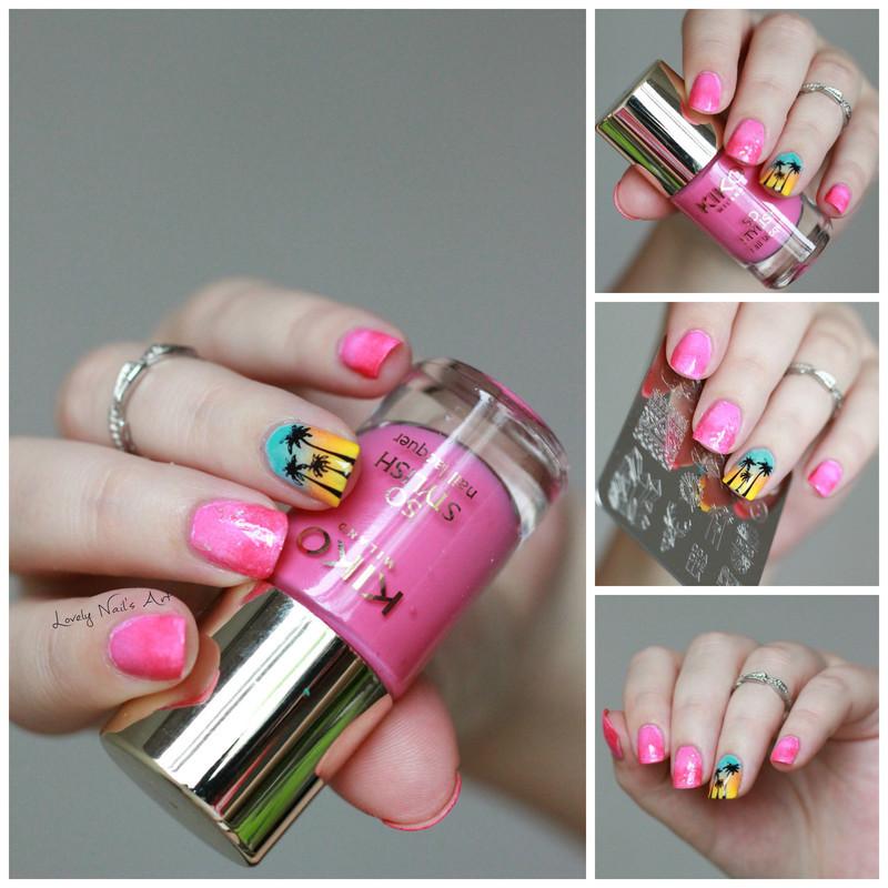 Nail art stamping summer nail art by Lovely Nail's  Art