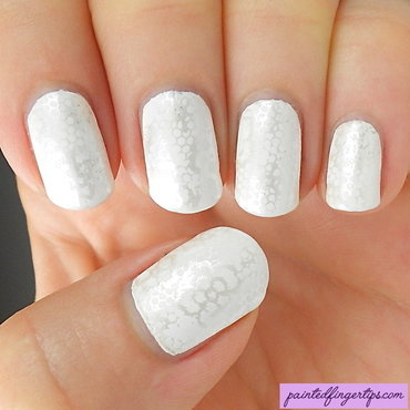 Bridal lacy white stamping nail art by Kerry_Fingertips