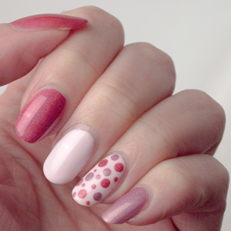 Pink, pink and more pink nail art by What's on my nails today?