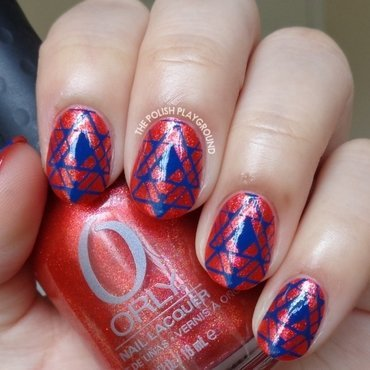 Shimmery 20red 20with 20dark 20blue 20tribal 20inspired 20stamping 20nail 20art thumb370f