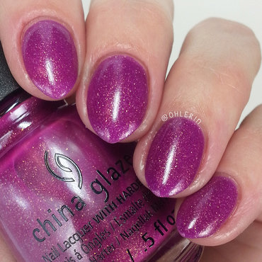China Glaze We Got the Beet Swatch by Lindsay