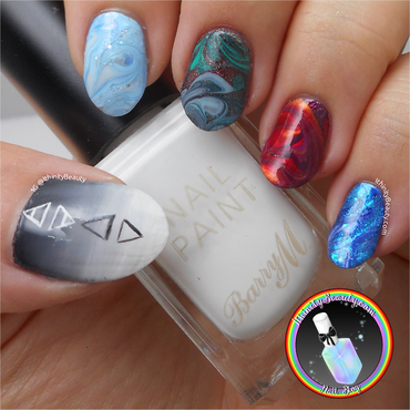 Elemental Drag Marble nail art by Ithfifi Williams