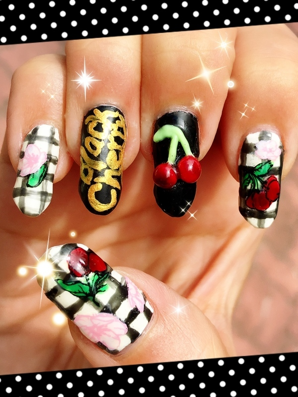 Black Cherry by Goldfrapp nail art by Idreaminpolish