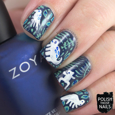 Rainforest jungle pattern nail art 4 thumb370f