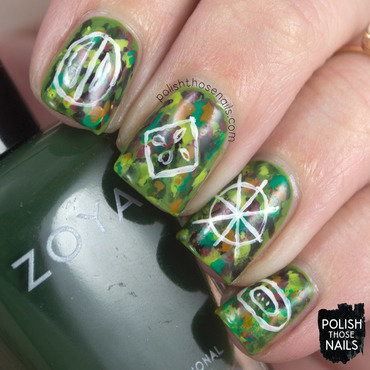 Abstract Seed Symbols nail art by Marisa  Cavanaugh