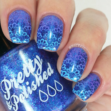 Gradient stamping nail art by Lindsay
