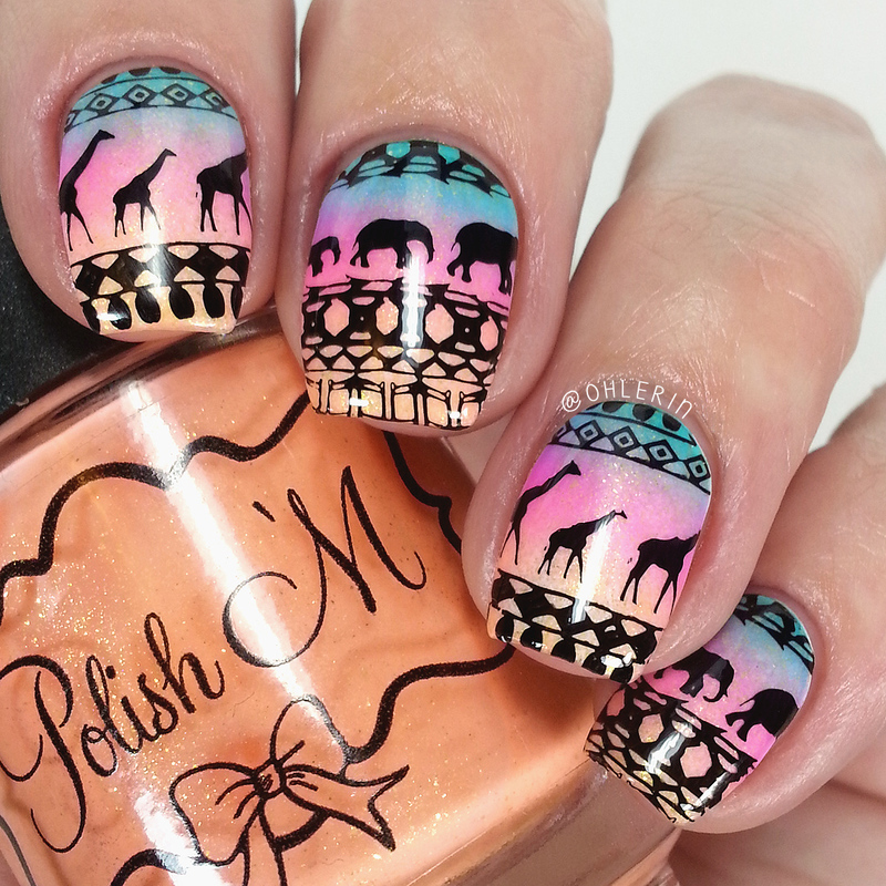 Africa nail art by Lindsay