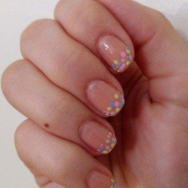 Pastel tips nail art by Reb Crick