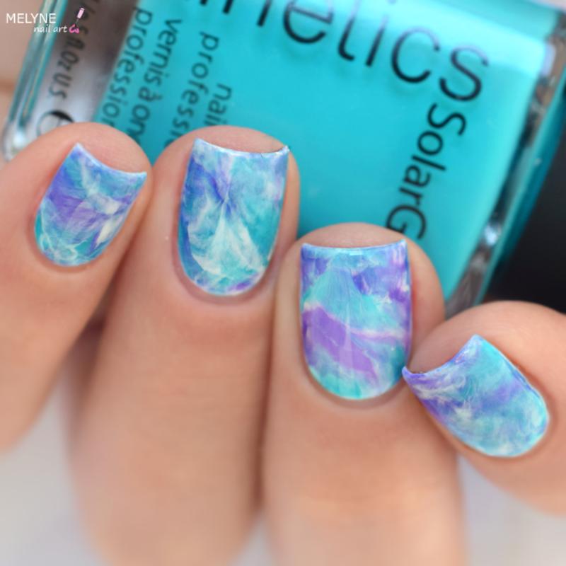 Smooshy Marble Nail Art nail art by melyne nailart
