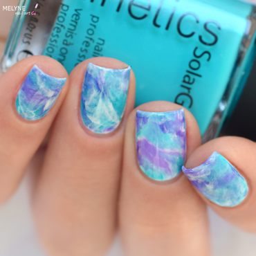 Smooshy Marble Nail Art nail art by melyne nailart