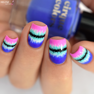Colorful and fun Nail design nail art by melyne nailart