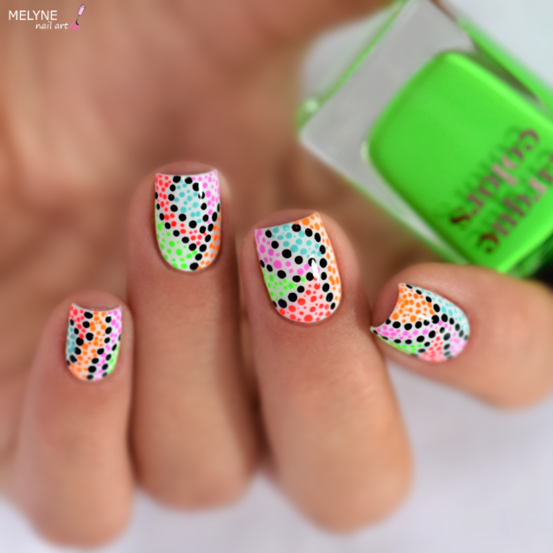 Summer dotticure  nail art by melyne nailart