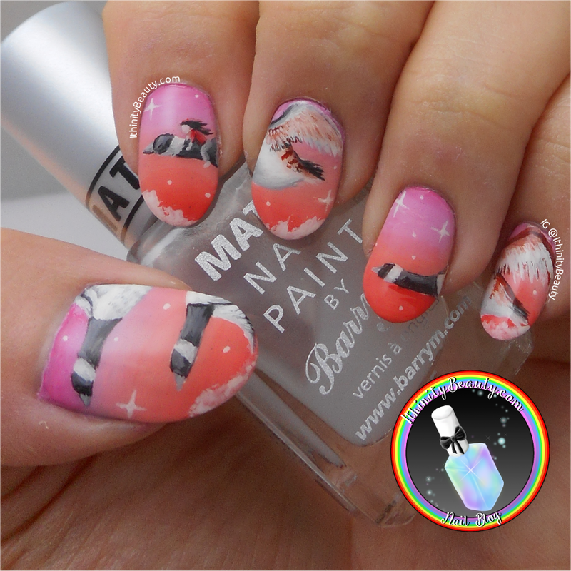 Travelling Home To England Nail Art nail art by Ithfifi Williams