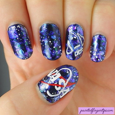 NASA nail art nail art by Kerry_Fingertips