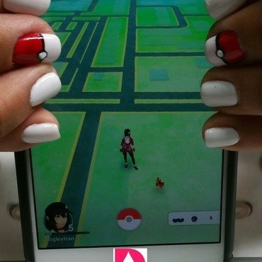 Gotta Catch'em All nail art by Drips Nail Bar