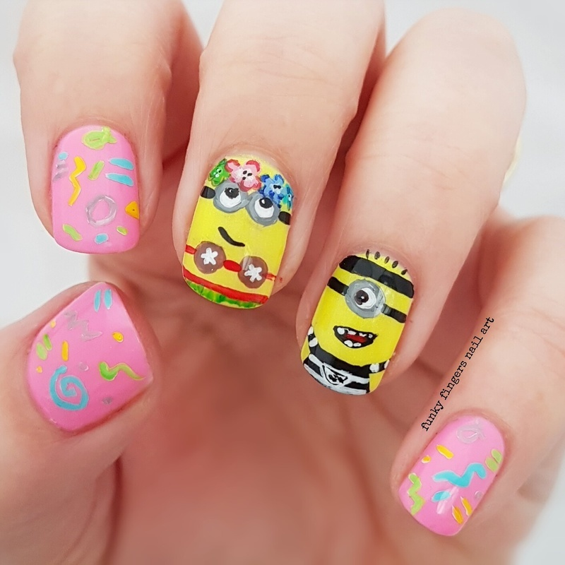 Despicable me 3 nails nail art by Funky fingers nail art