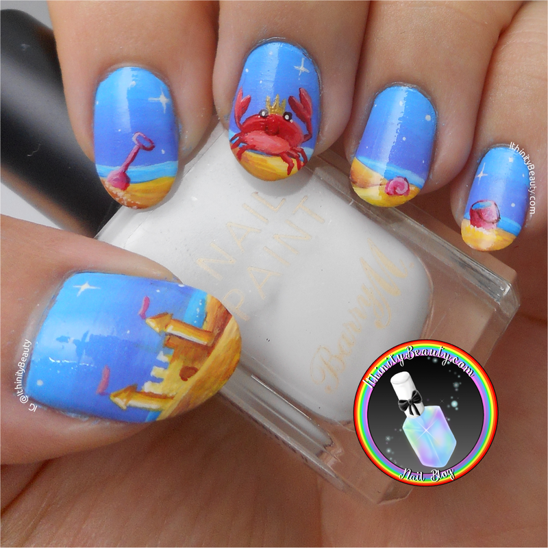 King of the castle nail art by Ithfifi Williams