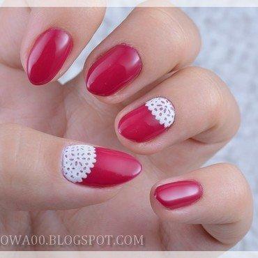 Lace nail art by Jadwiga