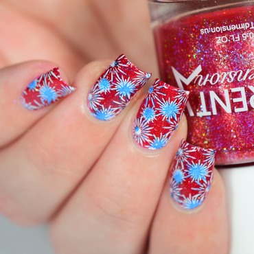 Baby You're A Firework! nail art by Crystal (Seriously Lacqueing)