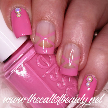 Ballet Shoes Nail Art nail art by The Call of Beauty