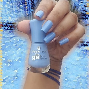 Essence eclectic blue Swatch by nailsofkh
