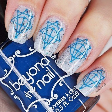 Geometric Nail Stamping nail art by Maddy S