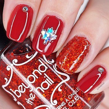 Happy Canada Day Nails nail art by Maddy S