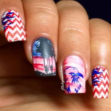 4th july nail art by Nicky