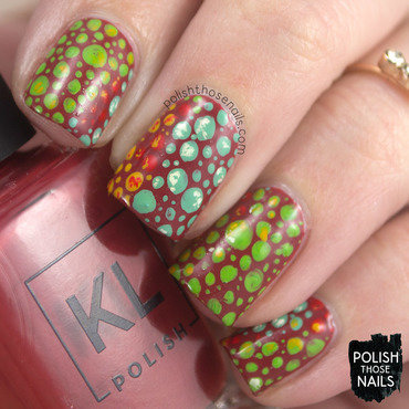 Spotty Chameleon Spots nail art by Marisa  Cavanaugh