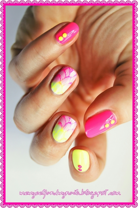 Summer's here nail art by ELIZA OK-W