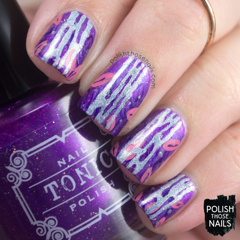 Sparkling Waterfall nail art by Marisa  Cavanaugh