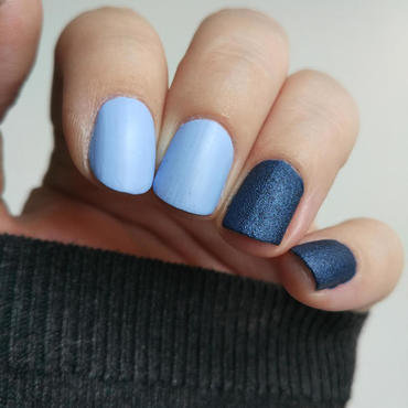 Denim Nails nail art by Salla Hietanen